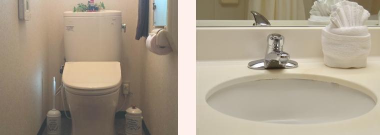 トイレ洗面所ハウスクリーニング・トイレ掃除・洗面台掃除・洗面所掃除のご案内 鈴鹿きれい館